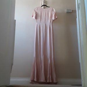 Nwt asos maxi light pink dress